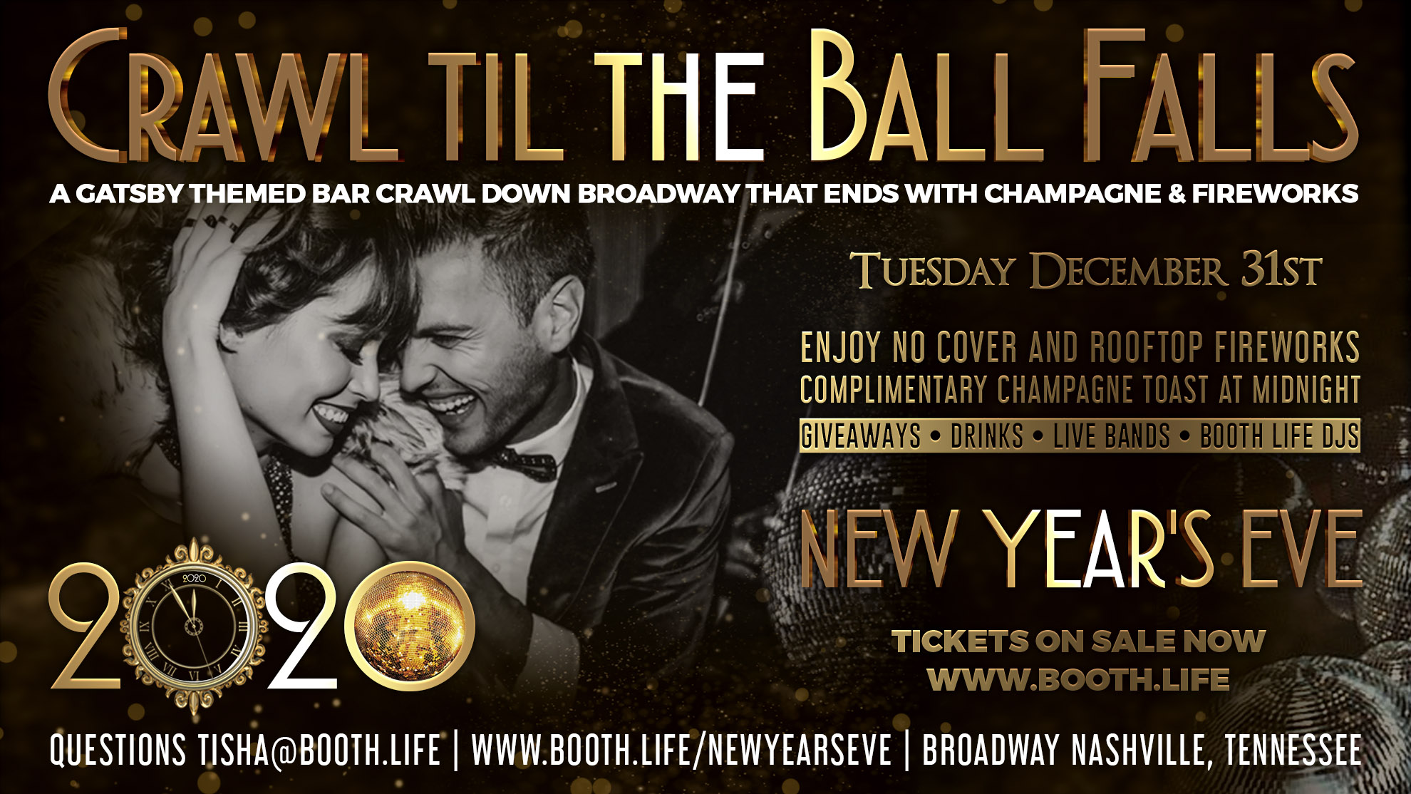 Crawl til the Ball Falls New Years Eve