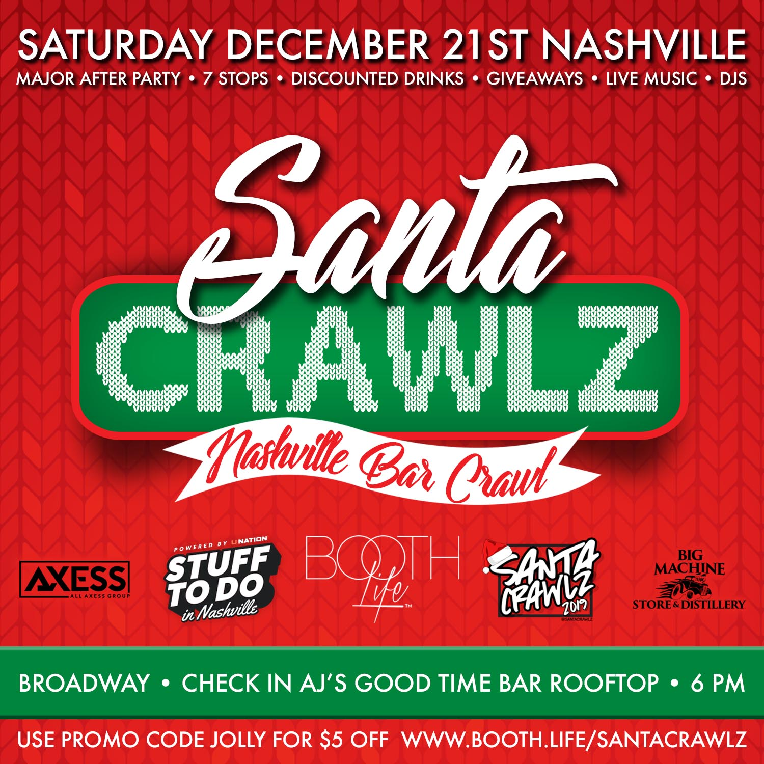 White Claw Santa Bar Crawl